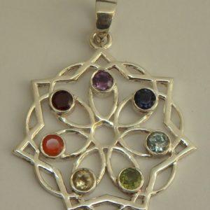Mandala fleur 7 pierres