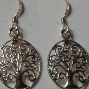 Boucles d'oreilles arbre ovale