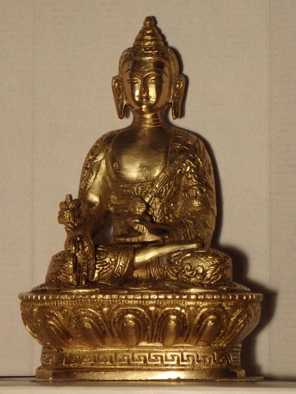 Bouddha bronze doré