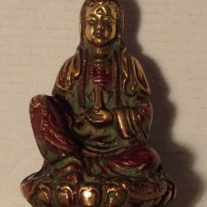 Bouddha rouge et doré