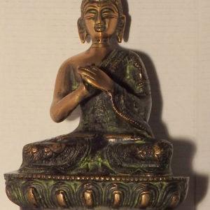 Bouddha bronze noir et doré