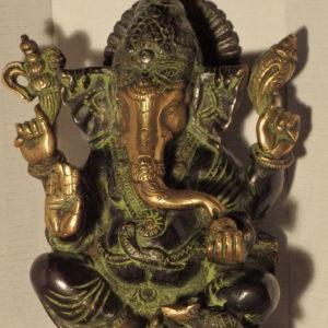 Ganesh Bronze noir et doré