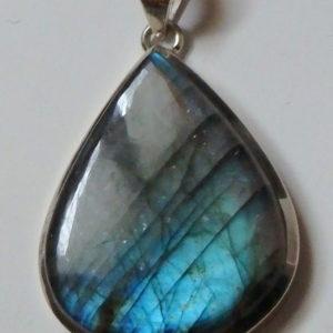 Labradorite bleue XL bord fin